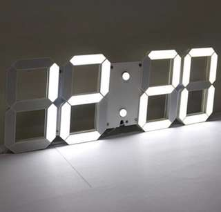 (PO) Remote Control Big LED Digital Wall Clock - Medium