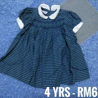 4 years - Kids Cloth Shirt Dress Baby Girl Boy