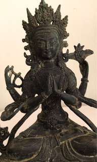 A Tibetan Figure Of bronze statue