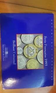 全新1993法國紀幣