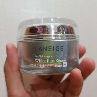 Laneige plus renew white cream