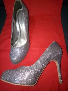 Glitter Siver 7cm Heels