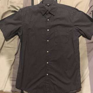 Uniqlo Button Down Short Sleeve Polo