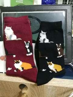(包郵) 義賣 可愛貓咪棉襪