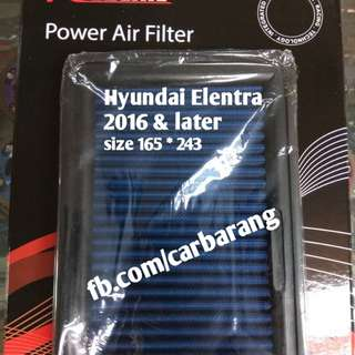 Hyundai Elantra 2016 & New. REDLINE Performance Air Filter Washable Replacement