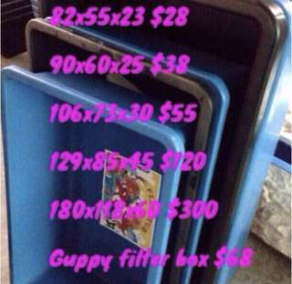 All brand new GUPPY Plastics Tub