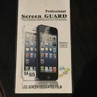 Protective glass screen guard S5