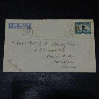 [lapyip1230] 英屬南非 1937年 黄金郵票 實寄封