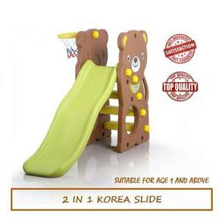 2 in 1 Korea Panda Slide Kids Slide Playground Set