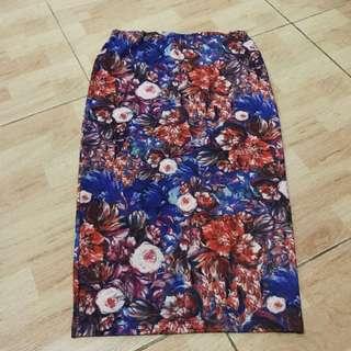 PULL&BEAR flower skirt