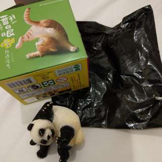 研達 朝隈俊男 台灣7-11 滾吧!翻白眼 animal life 特別版 隱藏版 熊貓 panda figure