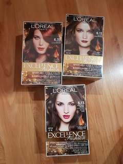 Loreal Hair Dye. 3 for RM50