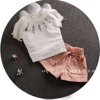 Girl Short Sleeved + Short Pant