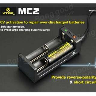 xtar mc2 brand new sealed li-on battery charger vape flashight etc
