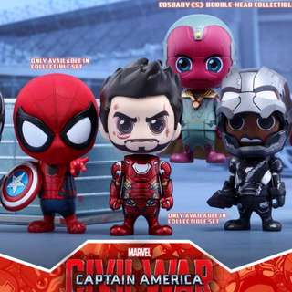 Cosbaby Spiderman with Captain America Shield