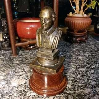 Antique Brass Shakespeare 古董~莎士比亞銅像
