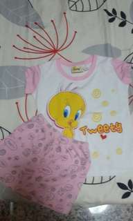 BN tweety top and skirt