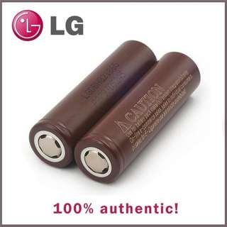 LG 18650 Brown li-on battery PAIR authentic brand new