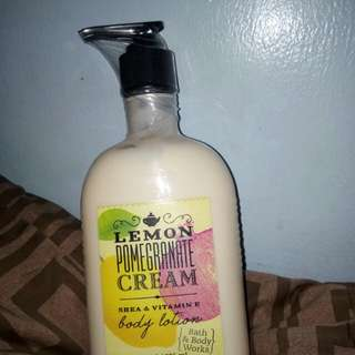 Bath & Body Works Lemon Pomegranate Cream Body Lotion