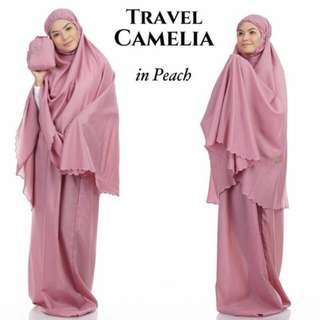 Telekung Travel Camelia (Peach)