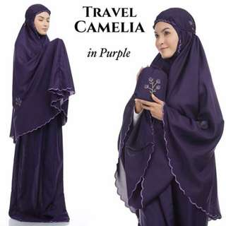 Telekung Tavel Camelia (Purple)