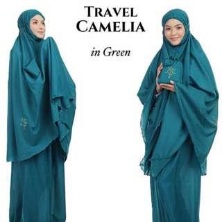 Telekung Travel Camelia (Green)