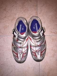 Shimano spd cycling shoes R133 carbon base 碳纖維鞋底單車鞋 42 size