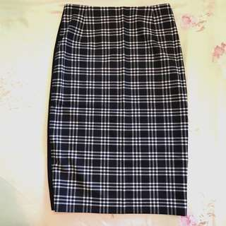 Brand New Sandro Checkers Pencil Skirt