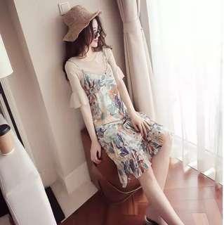 2 piece flora nursing dress
