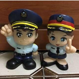 🚚 警察寶寶撲滿1對