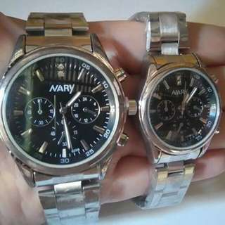 Nary couple watches