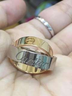 🈹️1000%正版 Cartier孖裝戒指 原價$3x x x x 平售$7300