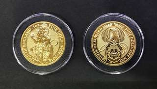 Limited edition gold coins