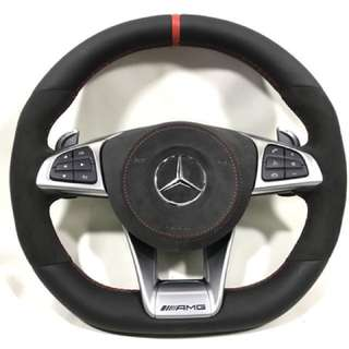 Rare! AMG Steering wheel with alcantara leather and red stitching