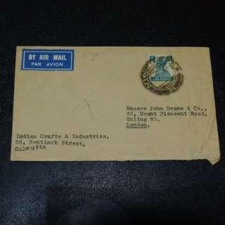 [lapyip1230] 英屬印度帝國 1945年 喬治六世 航空實寄封