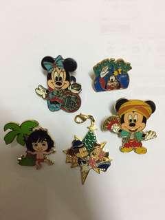 4 Pieces Tokyo Disney Resort Disneyland Disneysea Pin Trading Vintage *free Goofy