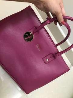 FURLA pink colour bag