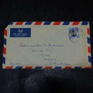[lapyip1230] 英屬馬來亞柔佛州 1955年 航空實寄封