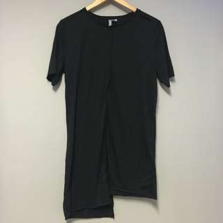 H&M Black T-Shirt Dress