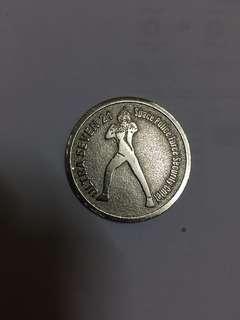 Rare 2003 Ultra Seven 21 Silver Coin Vintage