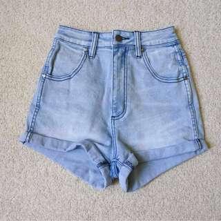 Wrangler Denim Pin Up Shorts