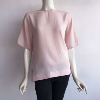 Auth MOSCHINO LOVE nude pink back buttons top