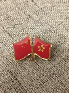 㯲章 中國 香港 區旗 國旗 五星紅旗 特區 回歸 國慶 #flag #badge #China Hong Kong