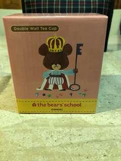 the bear school Double wall tea cup
