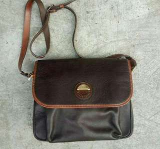 Vintage brown leather medium crossbody Bag