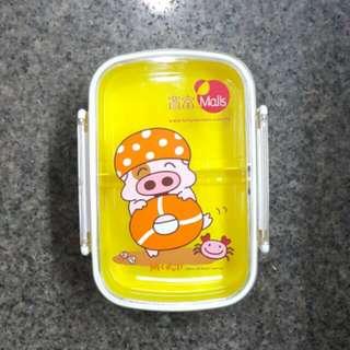 全新 麥兜 雙層食物盒 情侶壽司飯盒 親子生果沙律盒