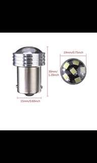 White 1156 6-2835-SMD Car LED Projector Bulbs Backup Reverse Light
