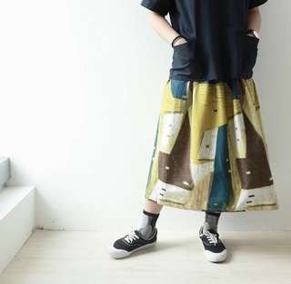 全新 包郵 日本布 半截裙 橡筋裙頭