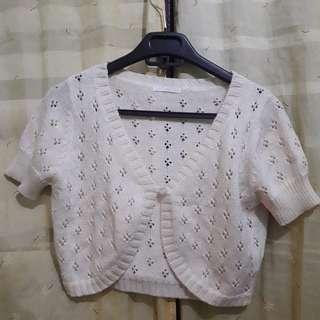 Knitted croptop blazer