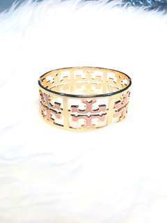 Faux Tory Burch Bangle in Rose